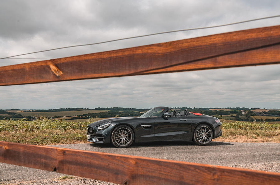 Mercedes-AMG GT Roadster 2019 UK first drive review - static side