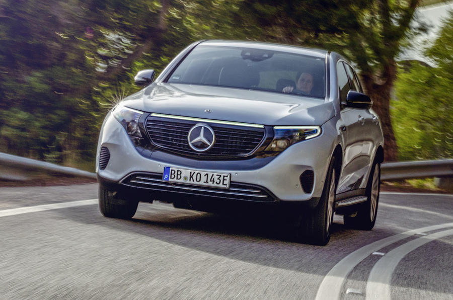 Mercedes-Benz EQC 2019 first drive - cornering front