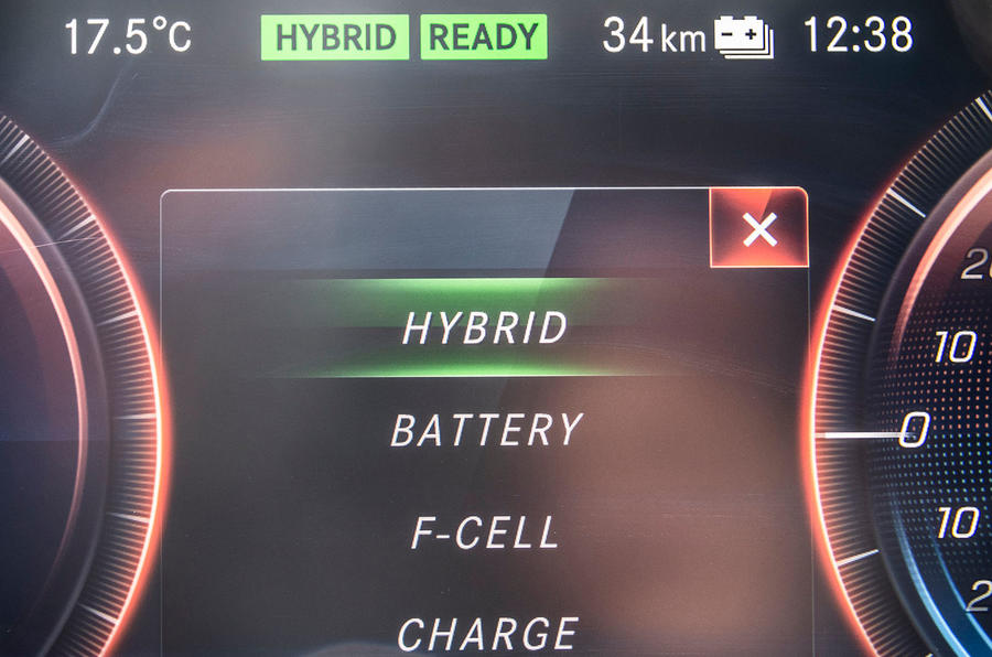 Mercedes-Benz GLC F-Cell 2018 first drive review - drive modes