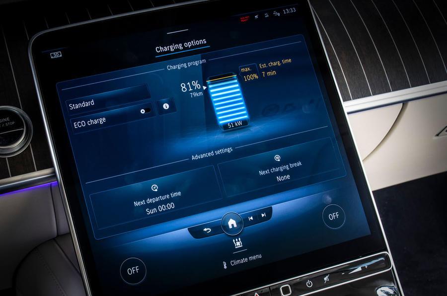 Mercedes-Benz S Class S580e 2020 first drive review - touchscreen