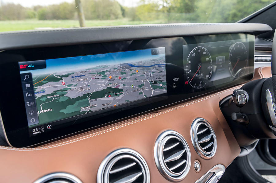 Mercedes-Benz S560 Coupe 2018 UK review infotainment