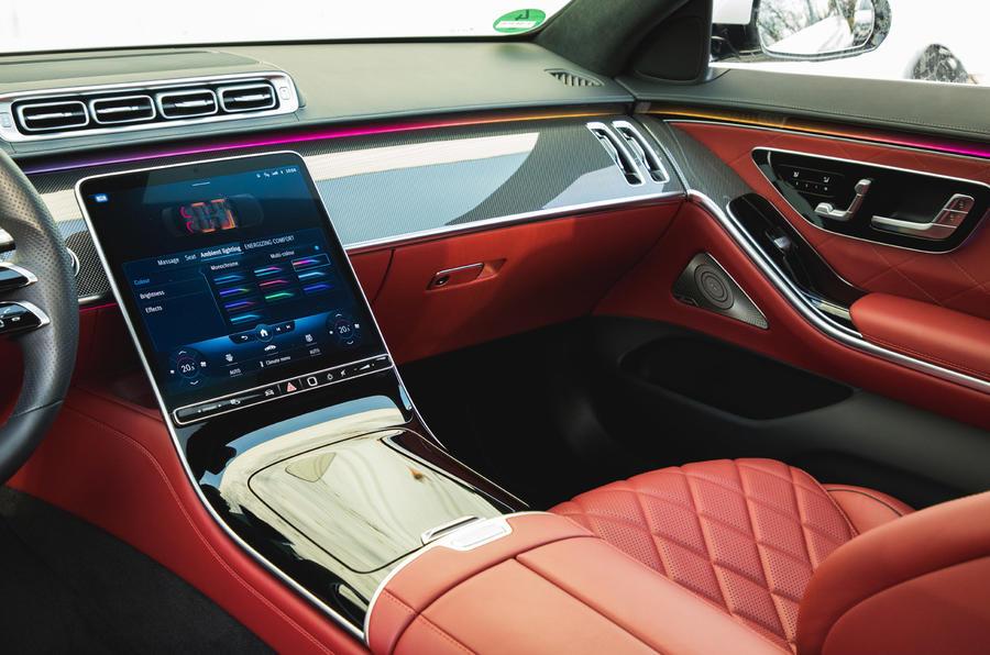 Mercedes S-Class S500 2020 (LHD) : premier examen de conduite au Royaume-Uni - console centrale
