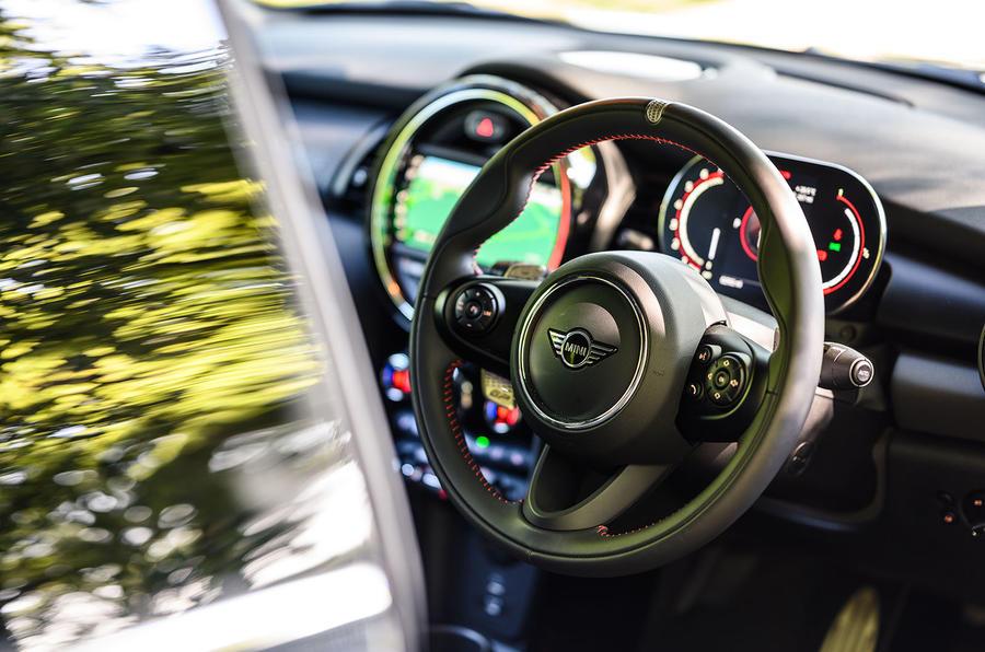 Mini JCW GP 2020 UK first drive review - steering wheel