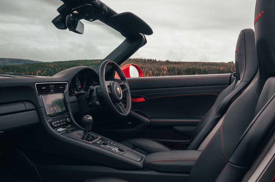 Porsche 911 Speedster 2019 UK first drive review - cabin