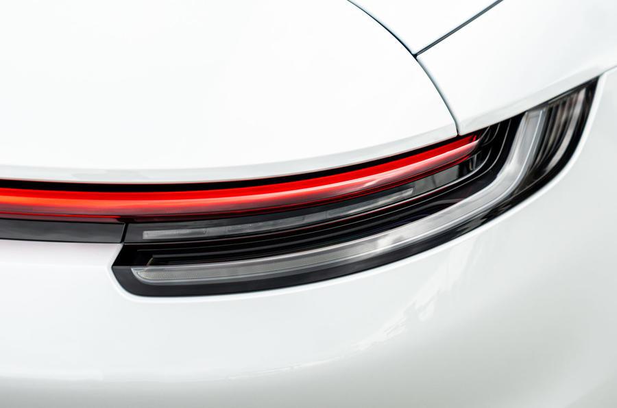 Porsche 911 Targa 2020 UK first drive review - rear lights