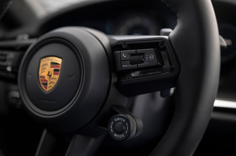 Porsche 911 Turbo S 2020 first drive review - steering wheel