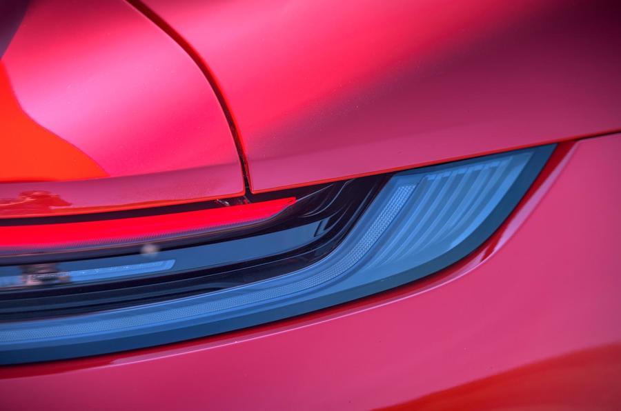 Porsche 911 Turbo S 2020 UK first drive review - rear lights