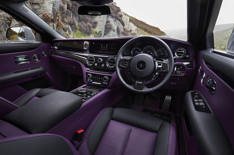 Rolls Royce ghost purple interior