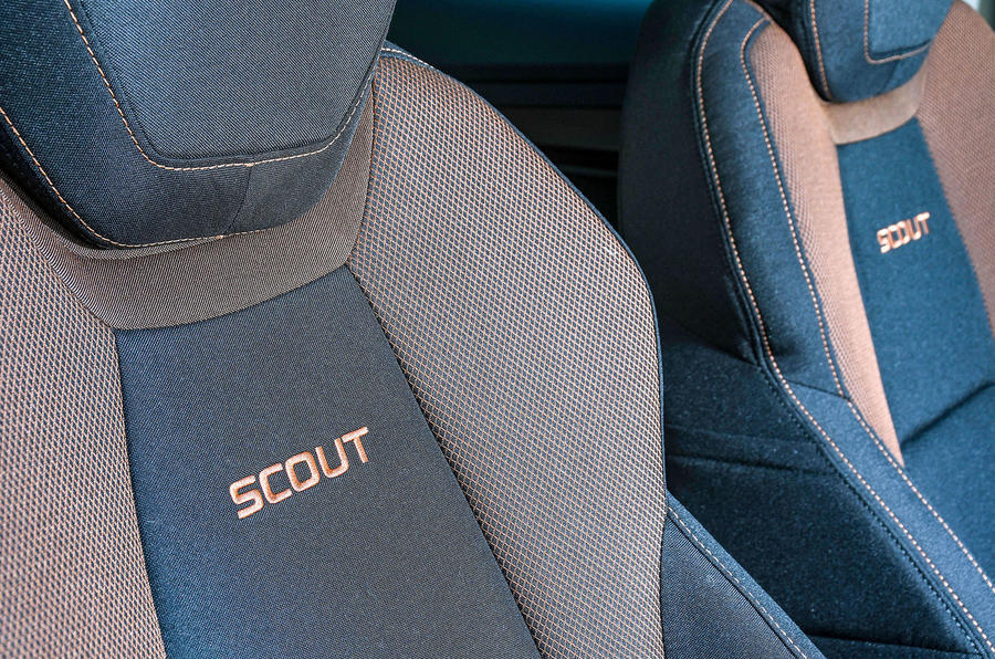 Skoda Karoq Scout 2019 first drive review - seat detail