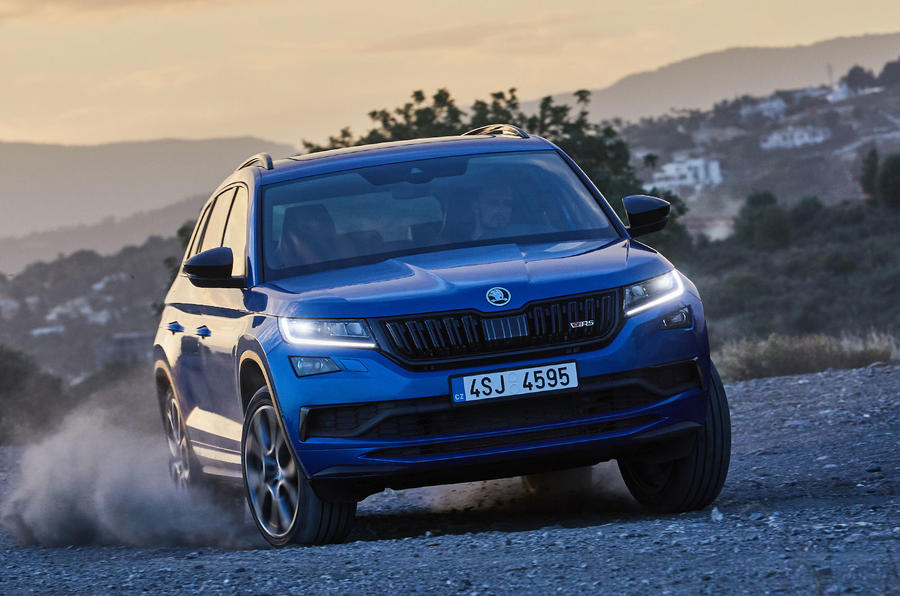 Skoda Kodiaq vRS 2018 first drive review - offroad dust cloud
