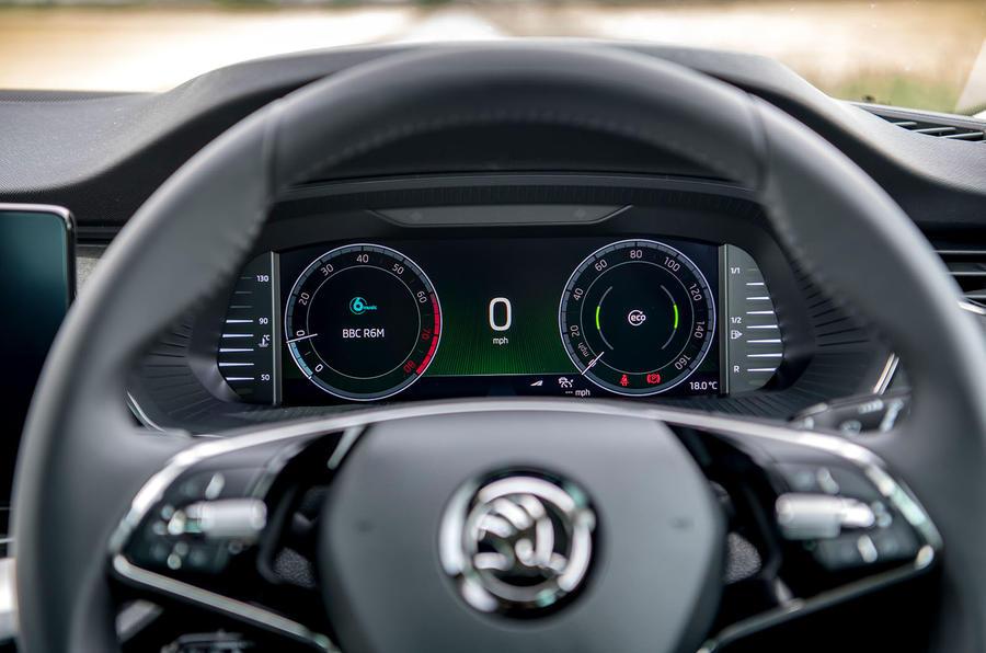 Skoda Octavia hatchback 2020 UK first drive review - instruments