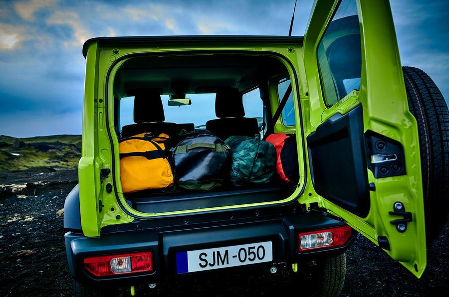 Suzuki Jimny 2018 first drive review boot door