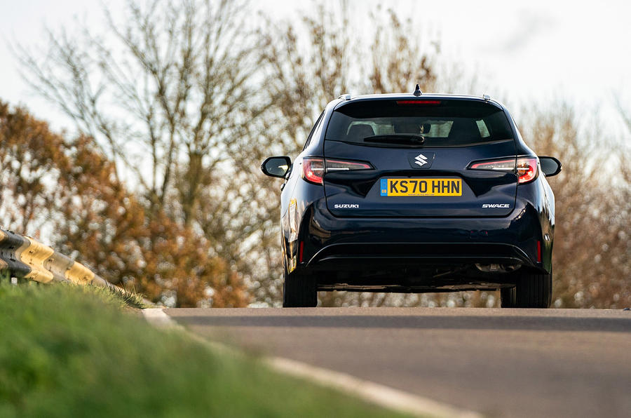 Suzuki Swace 2021 UK First Drive review - on the road rear