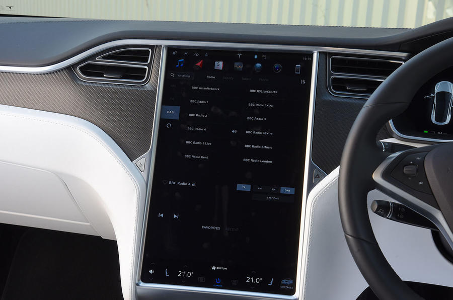 Tesla Model S 75D 2018 first drive review infotainment