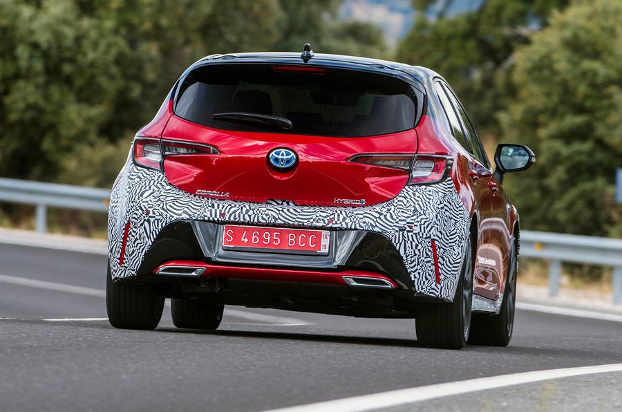 Toyota Corolla 2018 prototype first drive - cornering rear