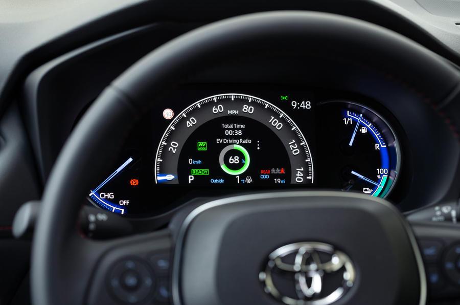10 Toyota RAV4 PHEV 2021 : premiers instruments d'examen de la conduite au Royaume-Uni