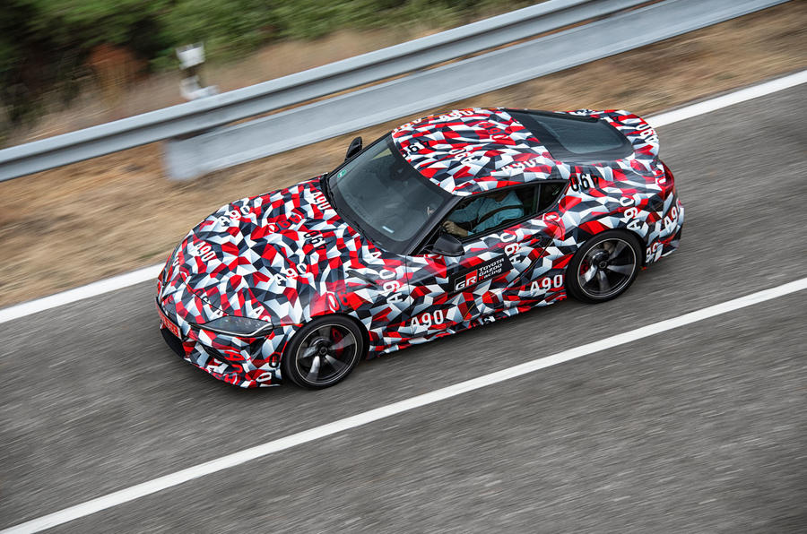 Toyota Supra 2019 prototype first drive review on the road top