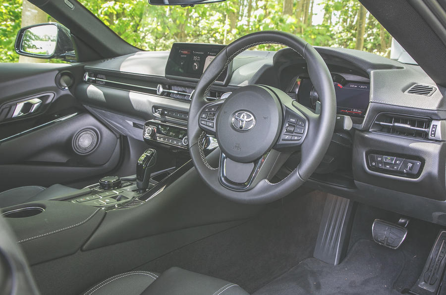 Toyota Supra 2019 UK first drive review - dashboard