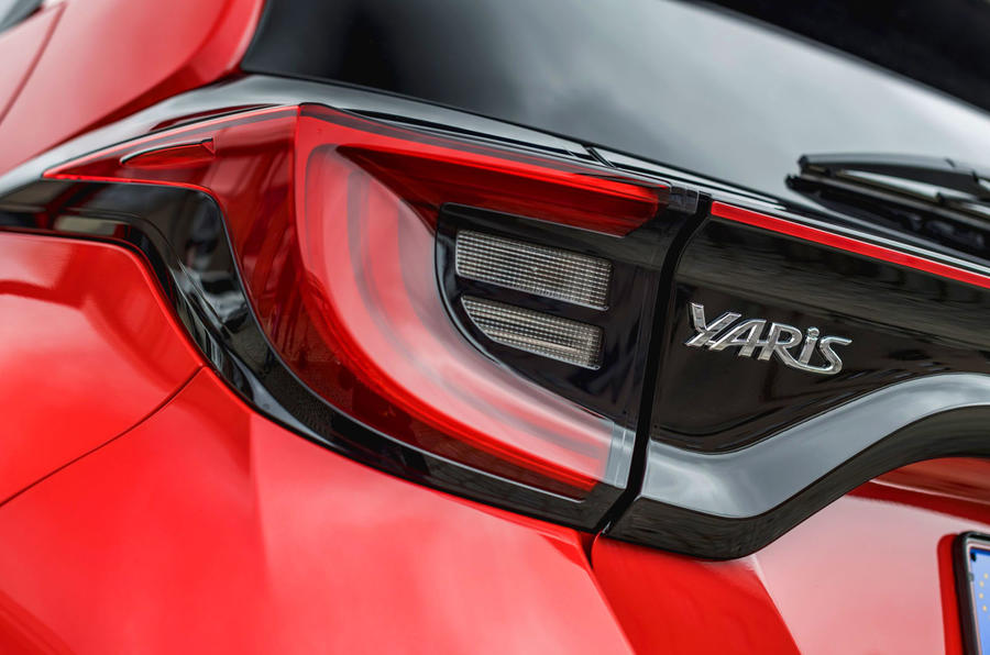 Toyota Yaris hybrid 2020 UK first drive review - rear lights