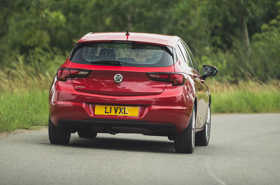 Vauxhall Astra 1.2 Elite Nav 2020 UK first drive review - on the road rear
