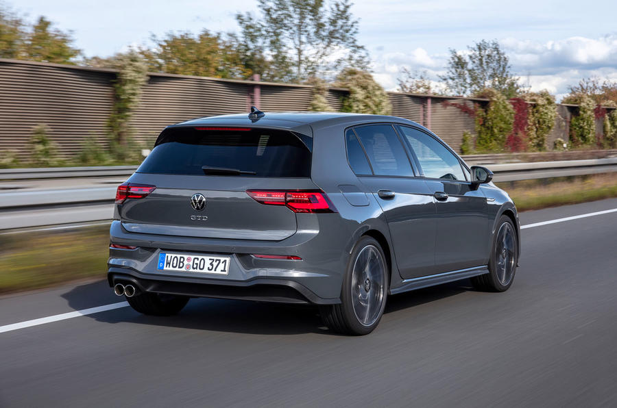 Volkswagen Golf GTD 2020 first drive review - on the road rear