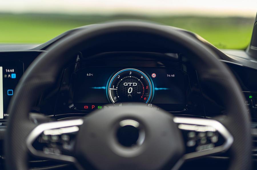 10 Volkswagen Golf GTD 2021 : premiers instruments d'examen de conduite au Royaume-Uni