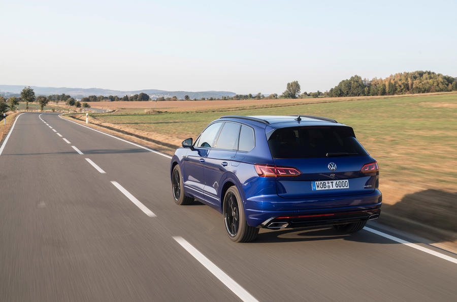 Volkswagen Touareg R 2020 first drive review - on the road rear
