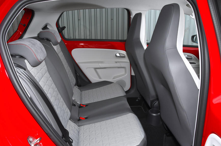 Volksawgen Up 1.0 2020 UK first drive review - rear seats