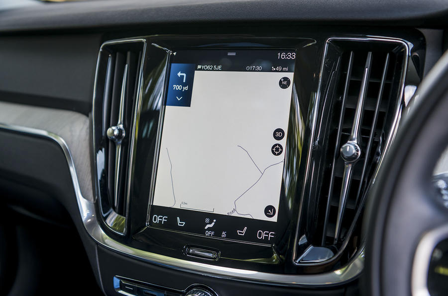 Volvo V60 D4 Inscription 2018 UK first drive review infotainment