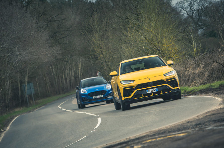 Opposite ends of the spectrum: Ford Puma ST vs Lamborghini Urus ...