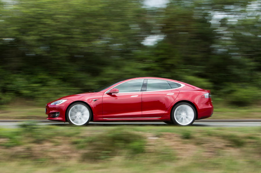 Tesla Model S 100D side profile
