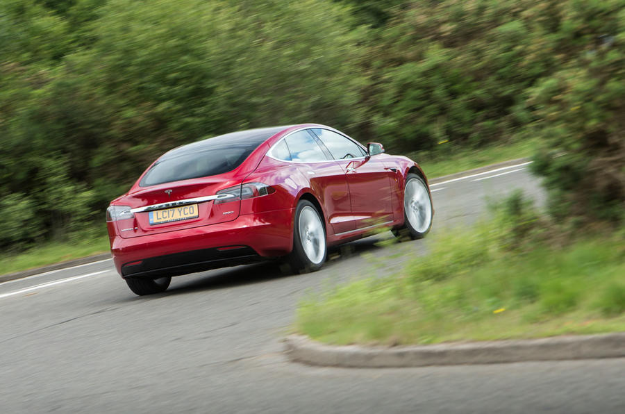 Tesla Model S 100D rear cornering