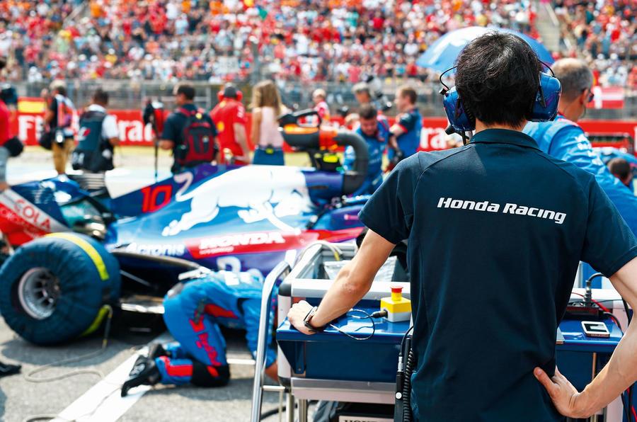 Honda Formula 1 pit stop