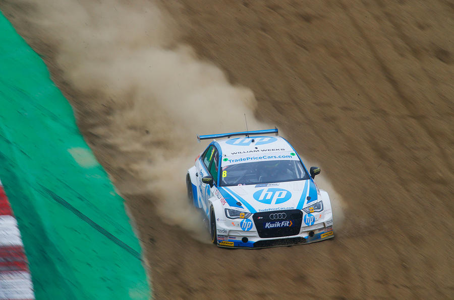 Mark Blundell's Audi S3 off-track at BTCC Round 1