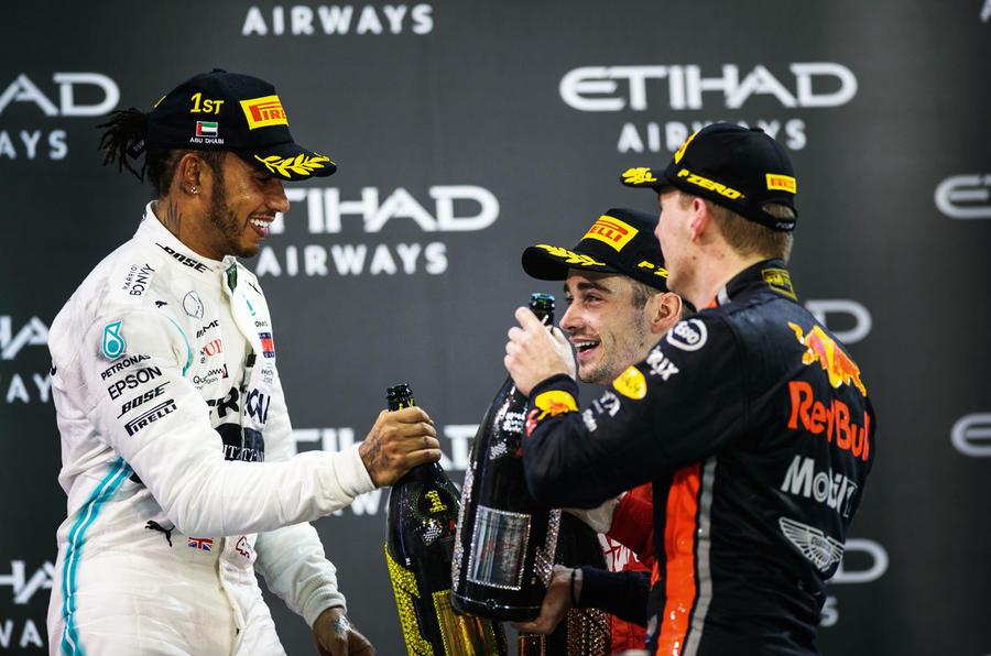 Hamilton, Leclerc and Verstappen