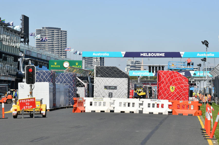 Melbourne GP empty