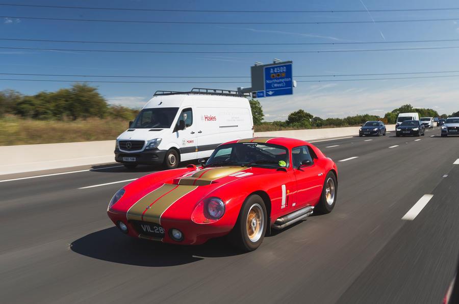 Cobra speeding front side
