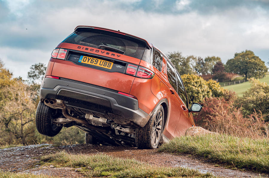 Land Rover Discovery Sport 2019 UK first drive review - off-road rear