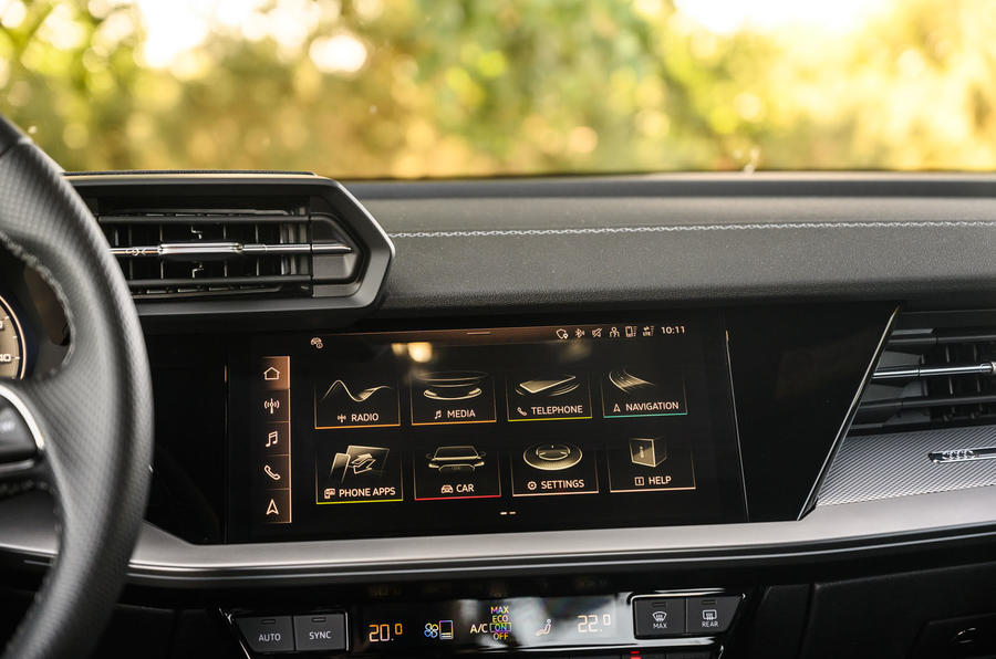 Audi A3 saloon 2020 UK first drive review - infotainment
