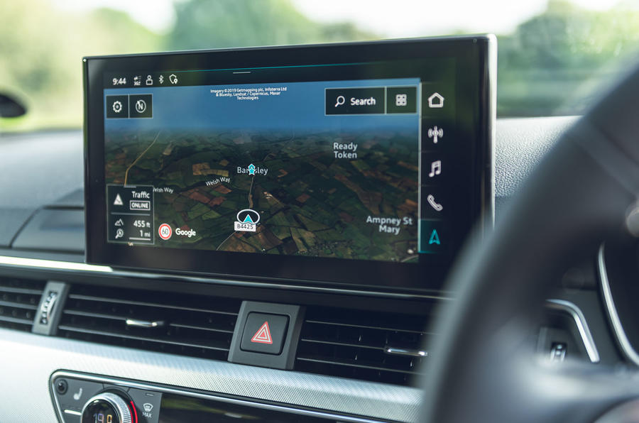Audi A4 35 TFSI 2019 UK first drive review - infotainment
