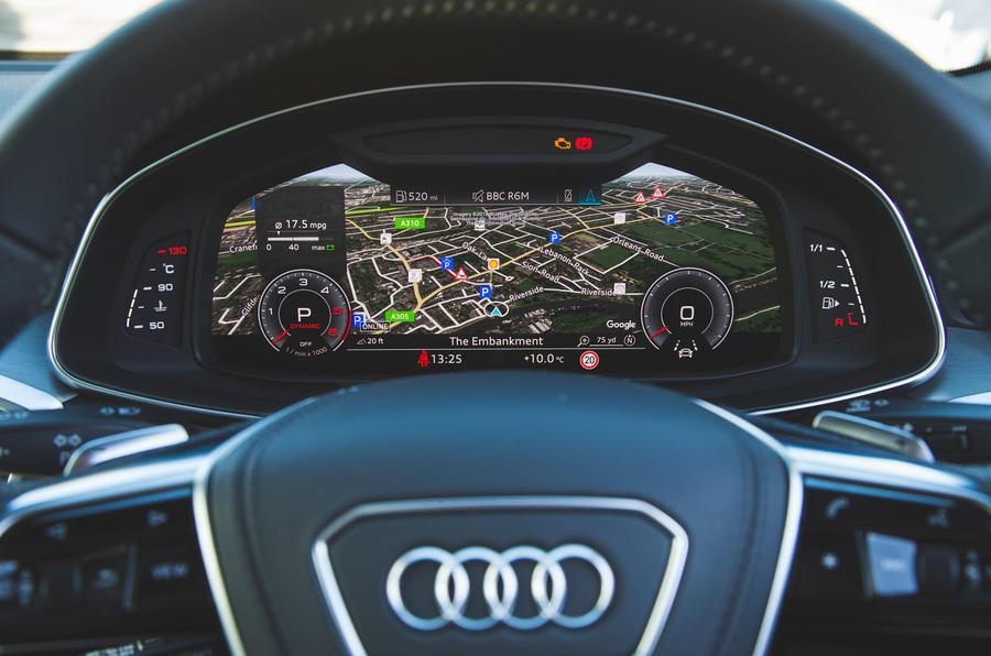 Audi A6 2018 long-term review - digital instruments