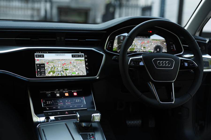 11 Audi A6 TFSIe 2021 UK first drive review infotainment