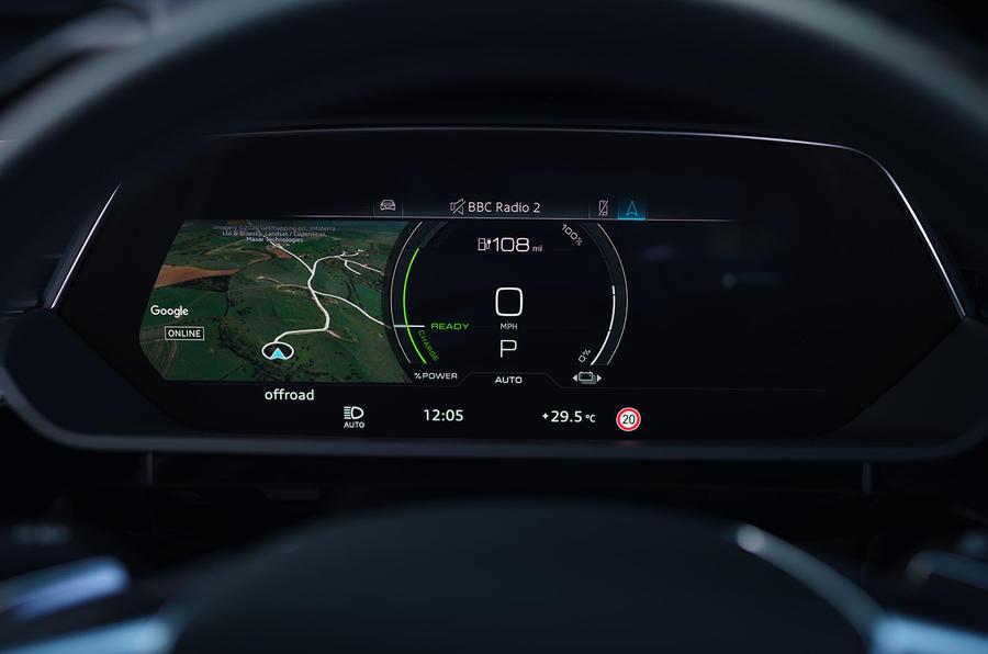 Audi E-tron Sportback 55 2020 UK first drive review - instruments
