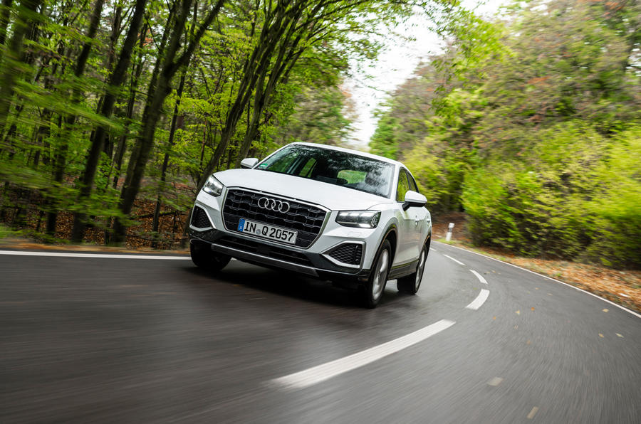 Audi Q2 2020 first drive review - cornering front
