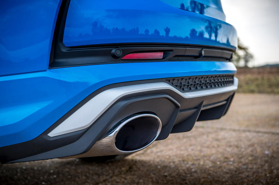 Audi RS Q3 Sportback 2019 UK first drive review - exhausts