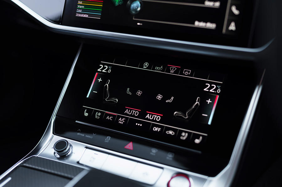 Audi RS6 2020 UK first drive review - climate controls