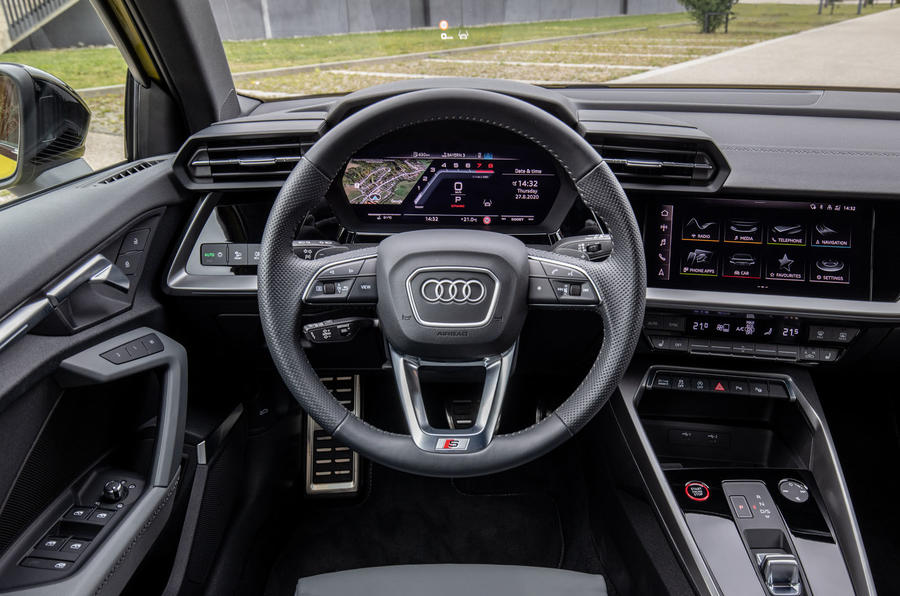 Audi S3 Sportback 2020 first drive review - steering wheel