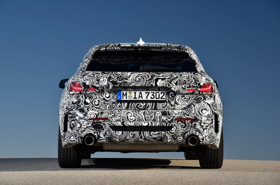 BMW 1 Series 2019 prototype drive - static back