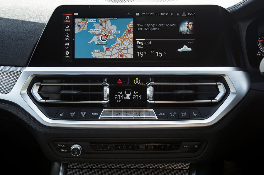 BMW 3 Series Touring 330d 2019 UK first drive review - climate controls