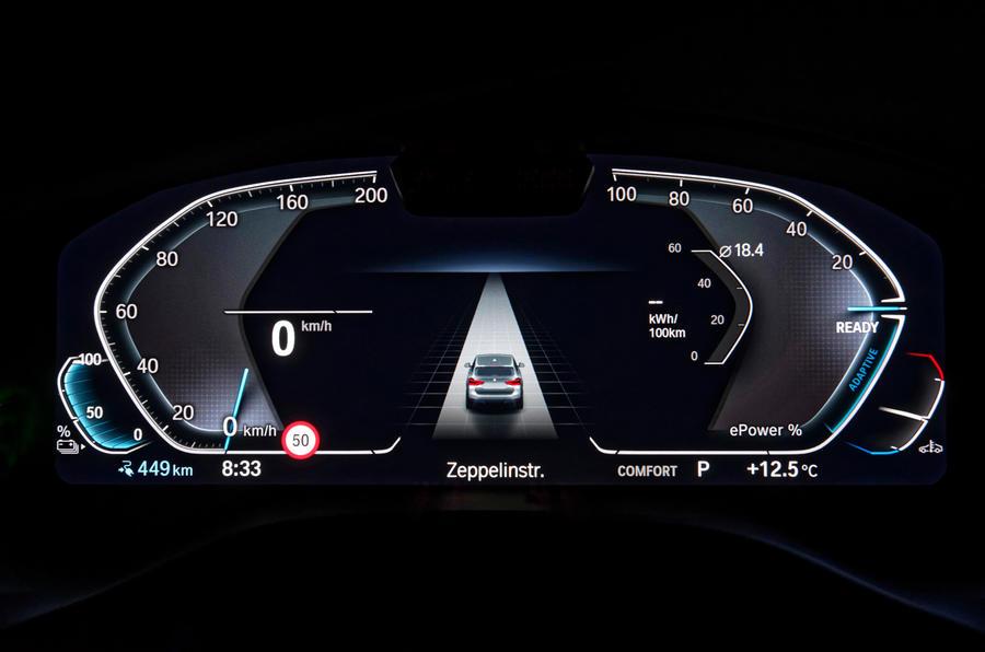 BMW iX3 2020 : premier bilan de la conduite - instruments